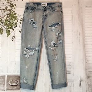 One teaspoon awesome baggies destroyed jeans sz 24